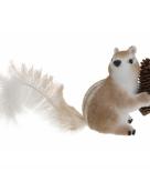 Eekhoorn decoratie met dennenappel 16 cm type 3