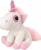 Eenhoorn kuffel 30 cm roze wit