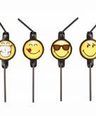 Emoji feestrietjes 8 stuks