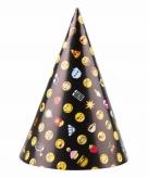 Emoji hoedjes van karton 8 stuks