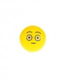 Emoticon stuiterbal verbaasd 8 cm