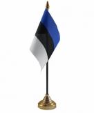 Estland versiering tafelvlag 10 x 15 cm