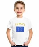 Europeesche vlag t-shirts voor kinderen