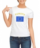 Europese vlag t-shirt voor dames