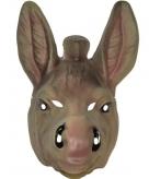 Ezel masker grijs voor volwassenen