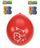 Feest ballonnen 8 stuks 8 jaar