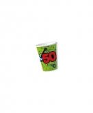 Feest bekers 50 jaar groen 10 stuks