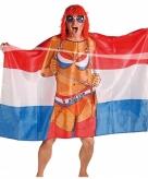 Feestartikelen vlag poncho vrouw