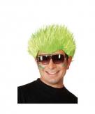 Fel groene pruik met spike haar
