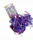 Fiets handvaten decoratie slierten paars