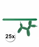 Figuurballonnen groen 25 stuks