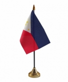 Filipijnen versiering tafelvlag 10 x 15 cm