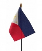 Filipijnen vlaggetje polyester