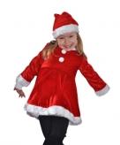 Fluwelen kinder kerstjurk