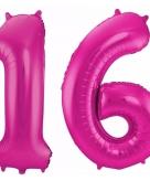 Folie ballon 16 jaar 86 cm