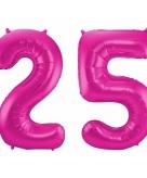 Folie ballon 25 jaar 86 cm