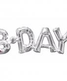 Folie ballon b day zilver 66 cm