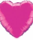 Folie ballon fuchsia hart 52 cm