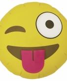 Folie ballon knipoog smiley 46 cm