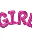Folie ballon meisje geboren roze 55 cm