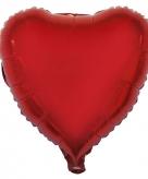 Folie ballon rode hart 52 cm