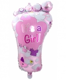Folieballon its a girl 70 cm