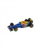 Formule 1 racewagen modelauto blauw