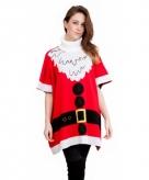 Foute kersttrui kerstman poncho 10070857
