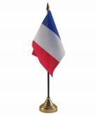 Frankrijk versiering tafelvlag 10 x 15 cm