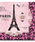 Franse thema servetten eiffeltoren print 16 stuks