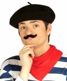 Franse zwarte baret