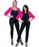 Fuchsia roze nepbonten jasje voor dames