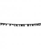 Fuck verjaardag letterslinger