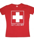 Fun girly shirt get laid kit