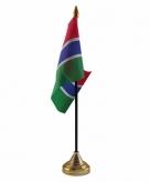 Gambia versiering tafelvlag 10 x 15 cm