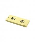 Garderobe nummertjes geel