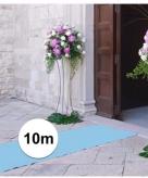 Geboorte artikelen jongen lichtblauwe lopers 10x1 meter breed