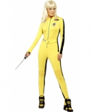 Geel kill bill kostuum