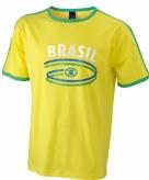 Geel shirt brazilie vlag voor heren