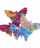 Gekleurd speelgoed vlindertje 12 cm