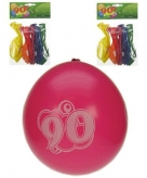Gekleurde feest ballonnen 90 jaar