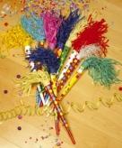 Gekleurde feest toeters 35 cm