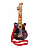 Gekleurde gitaar met geluiden