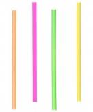 Gekleurde neon cocktail rietjes 12 5 cm 400 st