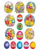 Gekleurde paaseieren stickervellen met 135 stickers
