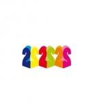 Gekleurde papieren slinger 2 jaar