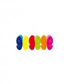 Gekleurde papieren slinger 9 jaar