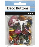 Gekleurde ronde knoopjes 100 stuks