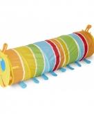 Gekleurde rups speeltunnel 144 cm