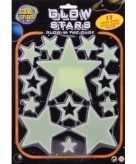 Gele lichtgevende sterren stickers 13 stuks